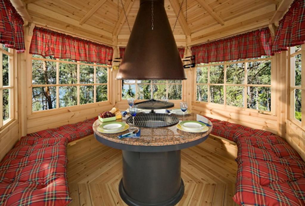 Финский домик для барбекю