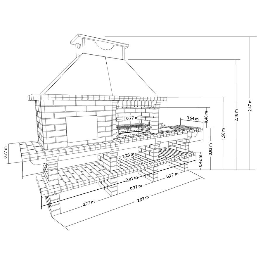 Печь для летней кухни чертежи