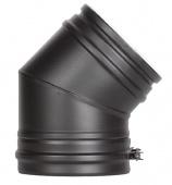 Отвод 45* Schiedel Permeter д. 150 РМ25 (черный)