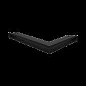 Вентиляционная решетка Kratki Люфт угловая левая 600х400х60 черная, 45S