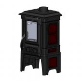 Чугунная печь-камин Guca Arina1210 Dark Red