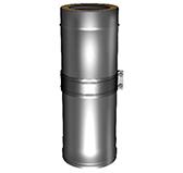 Труба телескопическая L = 510 – 880 мм с изоляцией 50 мм (двустенная, сталь 0,5 мм, диаметр 150 мм, зеркальная) TTvDR880