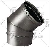 Отвод  45º (сталь 0,5 мм, диаметр 180 мм, матовая) OTvHR45