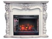 Электрокамин Royal Flame Castle слоновая кость с темной патиной с очагом Vision 30 EF LED FX