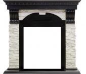 Портал Royal Flame Dublin арочный сланец белый/венге под классические очаги