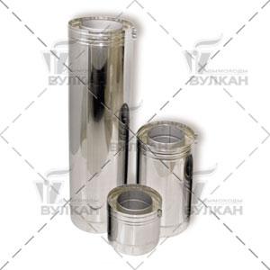 Труба двустенная DTH 500 (материал: нержавеющая полированная сталь, диаметр 400 мм)