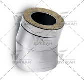 Отвод DOTH 15° (материал: полированная нержавеющая сталь, диаметр 500 мм)
