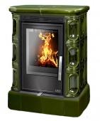 Печь ABX Marina KPI зеленая (кафельный цоколь, вставка комбо)