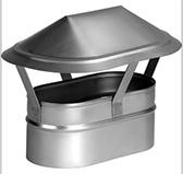 Зонт (сталь 0,5 мм, диаметр 100 x 200 мм, матовая) AHO