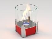 Биокамин Lux Fire Рондо S красный