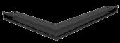 Вентиляционная решетка Kratki Люфт угловая правая 547х766х60 черная, 45S