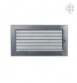 Вентиляционная решетка Kratki 17/30 Стандарт черный хром, регулируемая