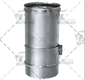 Труба телескопическая L = 330 мм (сталь 0,5 мм, диаметр 200 мм, матовая) TTvHR330