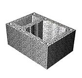 Блоки бетонные TONA tec Одноходовой с вент. каналом, h=250 мм МL14/16R