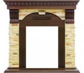 Портал Royal Flame Dublin арочный сланец/тёмный дуб под классические очаги
