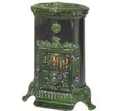 Печь Godin Petit Godin 3726 зеленая майолика
