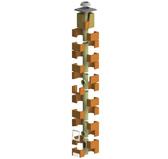 Дымоходный комплект IZOSTAT DUO 180/8/45° или 90°