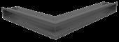 Вентиляционная решетка Kratki Люфт угловая правая 547х766х90 графит, 45S