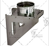 Кронштейн опоры 310х310 aisi 304 (сталь 0,5 мм, диаметр 150 мм, зеркальная) OKVXX