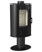 Печь-камин Kratki Koza/AB/S/N/O/DR/Glass (сталь, поворотная)