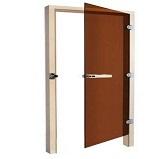 SAWO Дверь 730-3SGА, бронза, левая, без порога, 690mm х 1890mm коробка осина