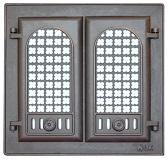 302 LK Дверца каминная двухстворчатая с решеткой со стеклом