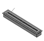 DECOFLAME PLATE 400 (размеры: 445 мм x 142 мм x 78 мм )
