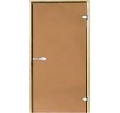 HARVIA Двери стеклянные 7/19 коробка ольха, бронза D71901L