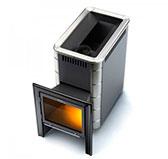 Банная печь Тунгуска 24 XXL  Витра Антрацит с теплообменником