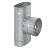 Тройник 90° с выходом на D 130 - 200 (сталь 0,5 мм, диаметр 100x200 мм, матовая) TRHO90