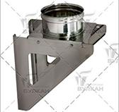 Кронштейн опоры 310х310 aisi 304 (сталь 0,5 мм, диаметр 160 мм, зеркальная) OKVXX