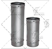 Труба L = 500 мм (сталь 0,5 мм, диаметр 130 мм, зеркальная) TLvHR500