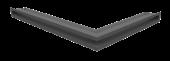 Вентиляционная решетка Kratki Люфт угловая левая 766х547х60 графит, 45S
