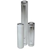 Труба VCR L = 500 мм коаксиальная (сталь 0,5 мм, диаметр 80х130 мм, зеркальная)