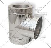 Тройник DTRH 90° (материал: полированная нержавеющая сталь, диаметр 130 мм)