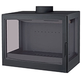 Топка Liseo Castiron LCI 007 GFLR Flat top (два боковых стекла)