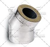 Отвод DOTH 30° (материал: полированная нержавеющая сталь, диаметр 180 мм)