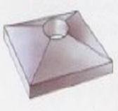 Плита перекрытия из волок. цемента с вентиляционным каналом, внутренний d -16см