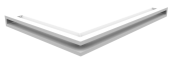 Вентиляционная решетка Kratki Люфт угловая правая 547х766х60 белая, 45S