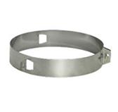 Хомут под растяжки на трубу с изоляцией (сталь 0,5 мм, диаметр 150 мм) XRDdXX150-DD