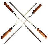 Шампур с деревянной ручкой 47 см