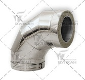 Отвод DOTH 90° (материал: полированная нержавеющая сталь, диаметр 104 мм)