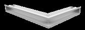 Вентиляционная решетка Kratki Люфт угловая левая 766х547х90 белая, 45S
