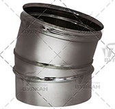 Отвод 15º (сталь 0,5 мм, диаметр 200 мм, матовая) OTvHR15