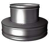 Переходник термо-моно с изоляцией 50 мм (двустенный, сталь 0,5 мм, диаметр 180 мм, зеркальная) PTvDR