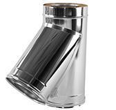 Тройник 45° с изоляцией 100 мм (двустенный, сталь 0,5 мм, диаметр 130 мм, зеркальная) TRwER45
