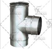 Тройники  90º (сталь 0,5 мм, диаметр 120 мм, зеркальная) TRvHR90