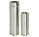Труба L = 500 мм с изоляцией (двустенный, сталь 0,8 мм, диаметр 150 мм) ТFR500150-DDDA