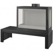 Печь Liseo Castiron LCI 7 GFLR Table (два боковых стекла)