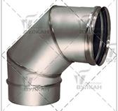 Отвод  90º (сталь 0,5 мм, диаметр 150 мм, зеркальная) OTvHR90